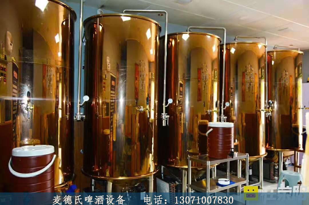 荥阳的啤酒设备安装完成