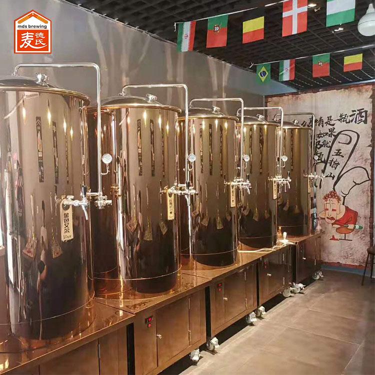 简述小型啤酒设备发酵过程中如何减少氧气摄入